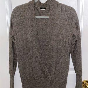 J Crew Soft Gray Open Sweater
